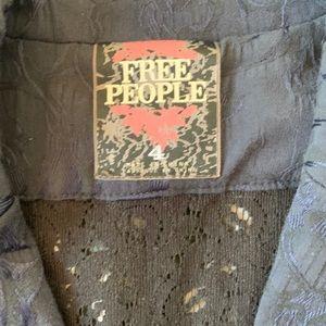Free People Jackets & Coats - Free People Victorian Lace Jacquard Jacket Blazer